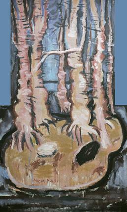 Pinturas de Eugenio Salas se exhiben en la Reserva Biológica Huilo Huilo